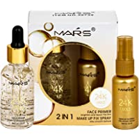 Mars 2 in 1 24 K Gold Primer and Makeup Setting Spray Primer WITH UNDER EYE CREAM