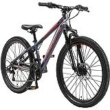 """BIKESTAR MTB Mountain Bike 24"""" Alluminio per Bambini 10-13 Anni   Bicicletta Telaio 12.5 Pollici 21 velocità Shimano, Hardtai"""