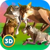 Wildlife Online Game With Real People: Magic Wolf Quest Survival Fighting