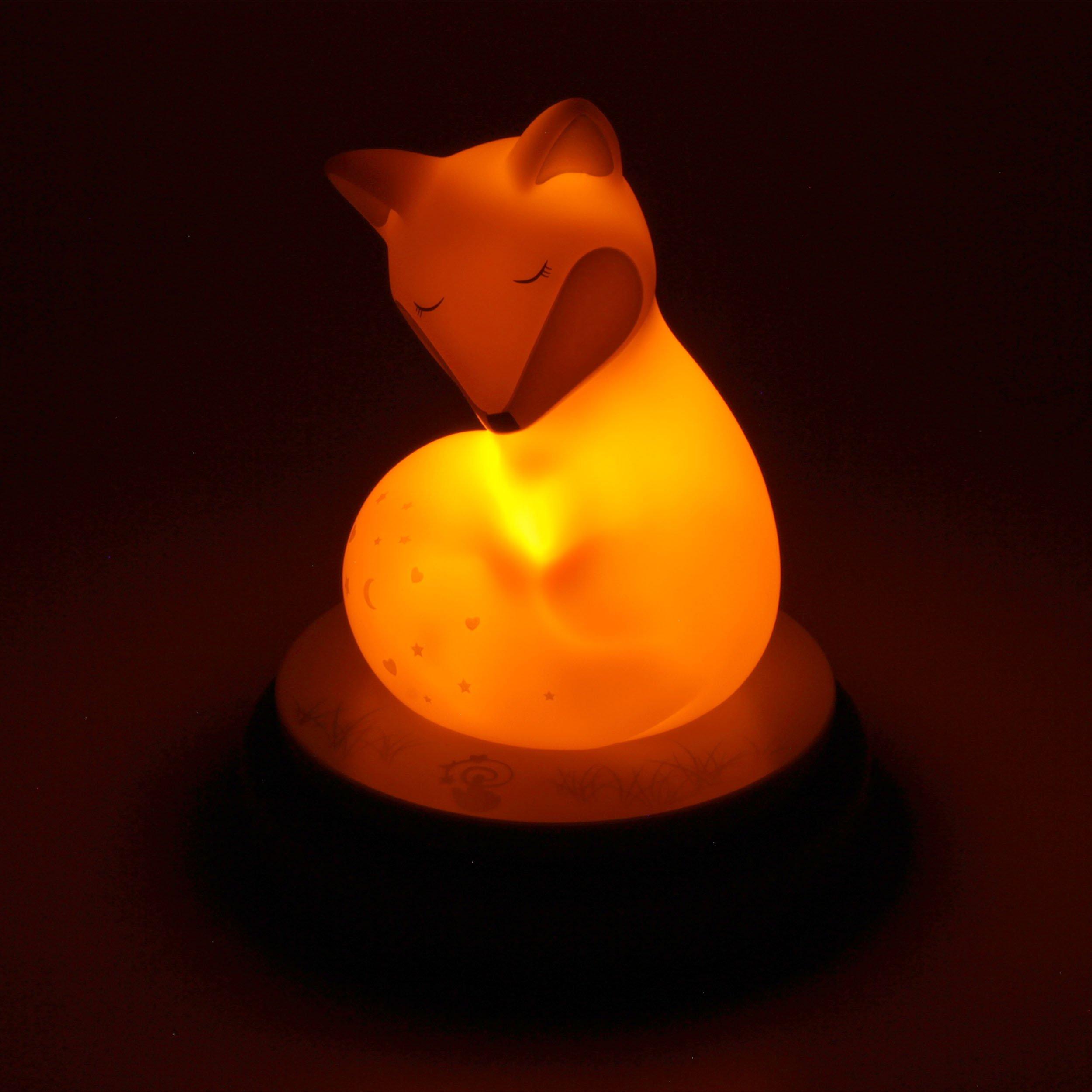 ANSMANN LED Nachtlicht Reh Einschlafhilfe mit sanftem Licht /& Berührungssensor