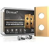 DOMAR® - Cuchillas duraderas Worx Landroid con tornillos I Cuchillas mejoradas especialmente para robot cortacésped de Worx L