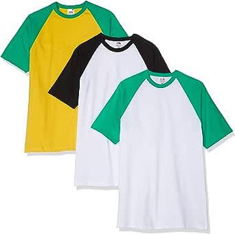 Fruit of the Loom Men's Baseball Classic Short Sleeve T-Shirt (Pack of 3)