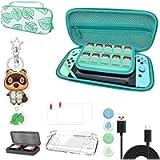Custodia da trasporto per Nintendo Switch - Borsa portatile Animal Crossing con manico - inclusi accessori multipli…