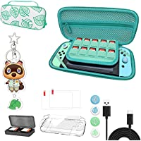 Custodia da trasporto per Nintendo Switch - Borsa portatile Animal Crossing con manico - inclusi accessori multipli…