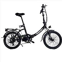 """DAS.BIKE Alu 20"""" Klappbar Elektrofahrrad Faltbike E-Bike ebike Schwarz"""
