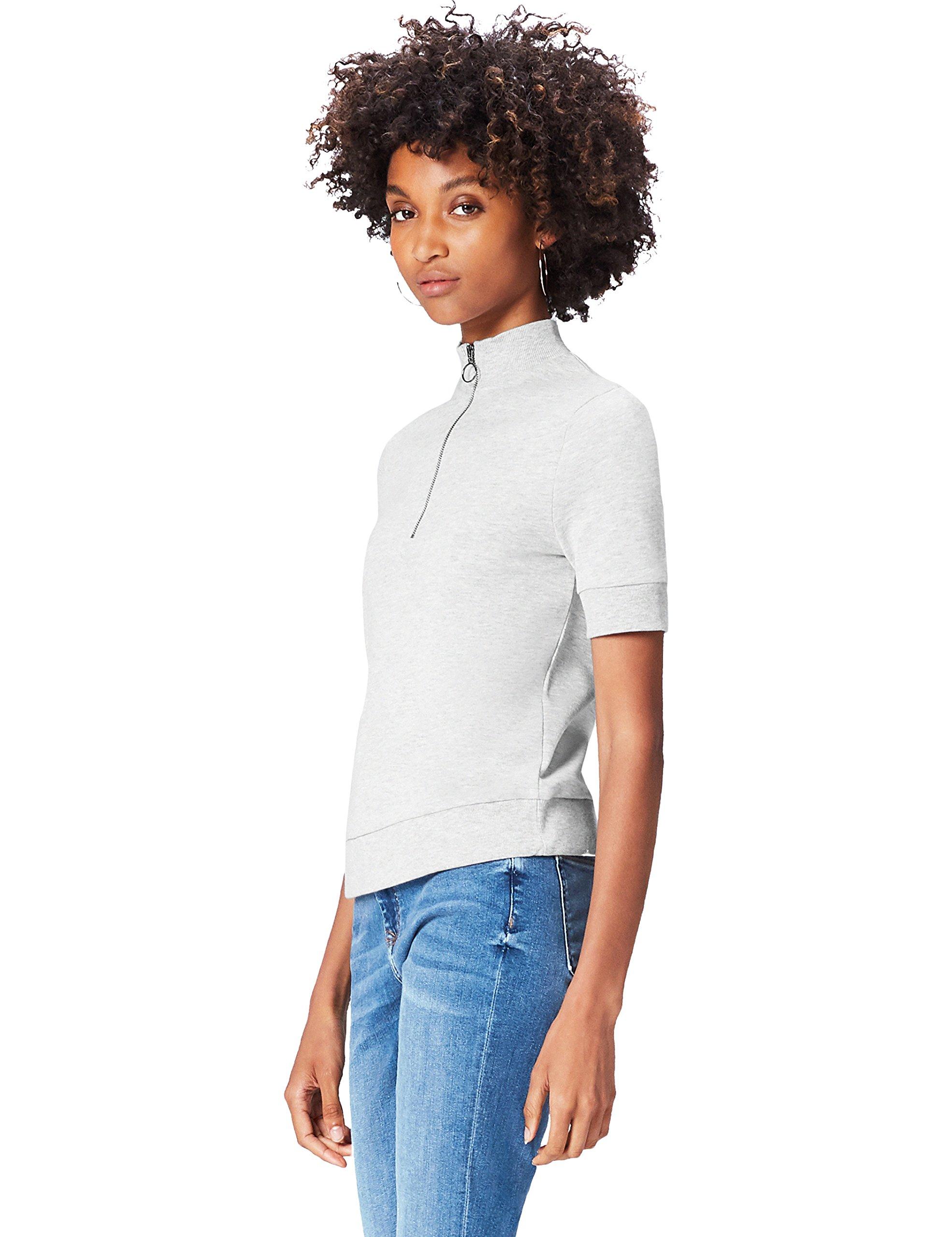 FIND Camiseta con Cremallera para Mujer