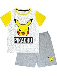 Pokemon Pikachu Face Boys Short Pyjamas