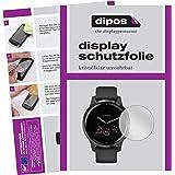 dipos I 6X beschermfolie helder compatibel met Garmin Vivoactive 4s (40mm) folie displaybeschermfolie (bewust kleiner dan het