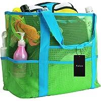 Faletony XXL Netz-Strandtasche Familie Mesh-Strand-Tasche Netztasche für Sandspielzeug, Extra Große Familie Mesh Beach…