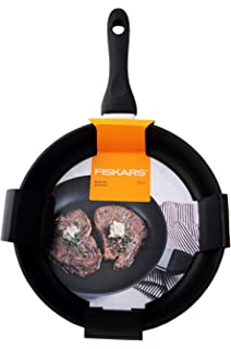 Scratch-Resistant Suitable for All hobs Black Hard Face Stainless Steel//Plastic Fiskars 1052246 Frying Pan Dia: 26 cm