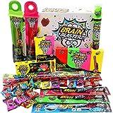 Brain Blasterz Super Sour Sweets Gift Box - Hard Sour Candy, Sour Gum Stick, Spray Candy, Brain Breakerz | Apple, Strawberry,