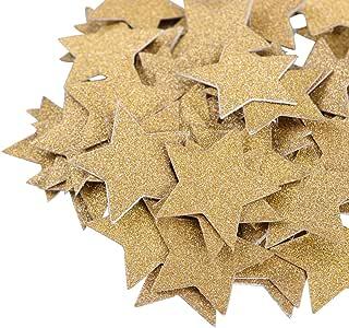 stella dorata ROSENICE Confetti di scintillio su due lati di DIY per la decorazione del Topper del bign/é della doccia del bambino di compleanno di cerimonia nuziale 100pcs