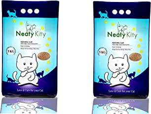 Neatykitty Clumping Cat Litter, 5 Kg (Pack of 2)