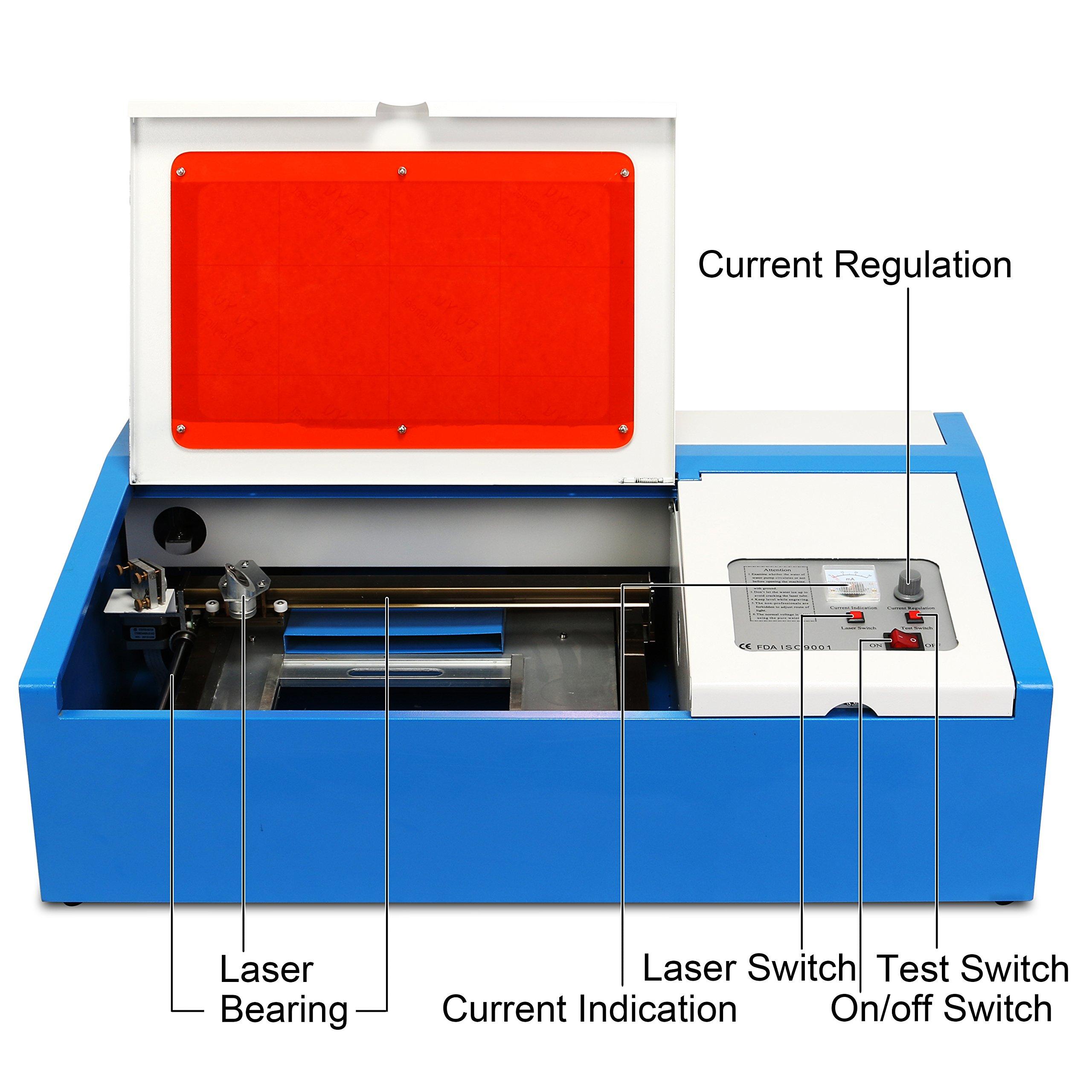 ZauberLu 40W Lasergravurmaschine Graviermaschine Mit USB Anschluss