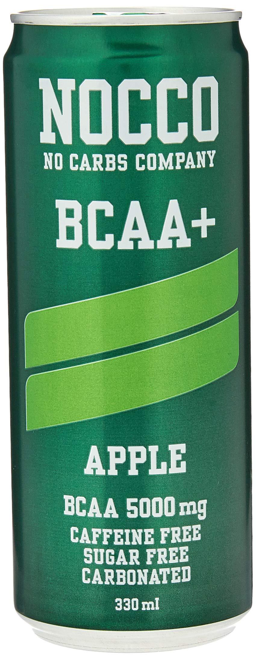 NOCCO BCAA+ Apple | 24 x 330ml | Zero Sugar | Functional Energy Drink | No Carbs Company | Vitamin Enhanced Zero…