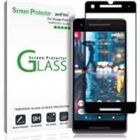 Google Pixel 2 Displayschutzfolie, amFilm Vollständige Abdeckung Panzerglas (Gehärtetem Glas) Schutzfolie für Google Pixel 2 (1 Stück, Schwarz)