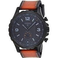 FOSSIL Q Nate / Montre connectée hybride pour homme - Smartwatch sport en cuir marron - Compatibilité iOS & Android…