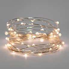 AtneP 3M 30LEDs USB Sliver String Copper LED Lights Warm White Decorative Fairy Lights