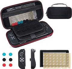 Custodia per Nintendo Switch, Vemico trasporta la custodia + Protezione avanzata dello schermo, trasporta la consolle con 29 cartucce e altri Accessori per Nintendo Switch