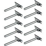 Gedotec legbordsteun Stalen legbordsteun - H10389 | Draagvermogen 200 kg | Legbordsteun met opschroefbare plaat | Legbordsteu