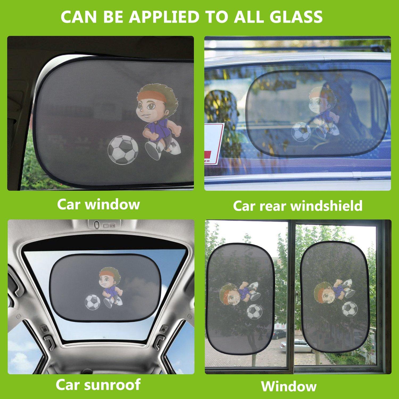 IntiPal 2 Pcs Baby Car Sun Shades Car Window Sunshades To Block Damaging UV Rays Bright Sunlight Heat For Kids Children Pets