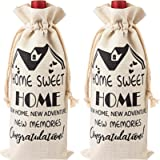 2 Pieces Housewarming Wine Bag Housewarming Presents for New Home, First Time House Owner Present Ideas for Men and…