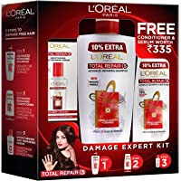 L'Oreal Paris Total Repair 5 Shampoo 704ml Combo with Conditioner, 192.5ml + Serum, 40ml FREE