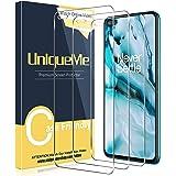 UniqueMe [3 Pack] Screen Protector Compatibel met Oneplus Nord, 9H Hardheid Gehard Glas [Anti-Kras] [Case Friendly] HD Clarit