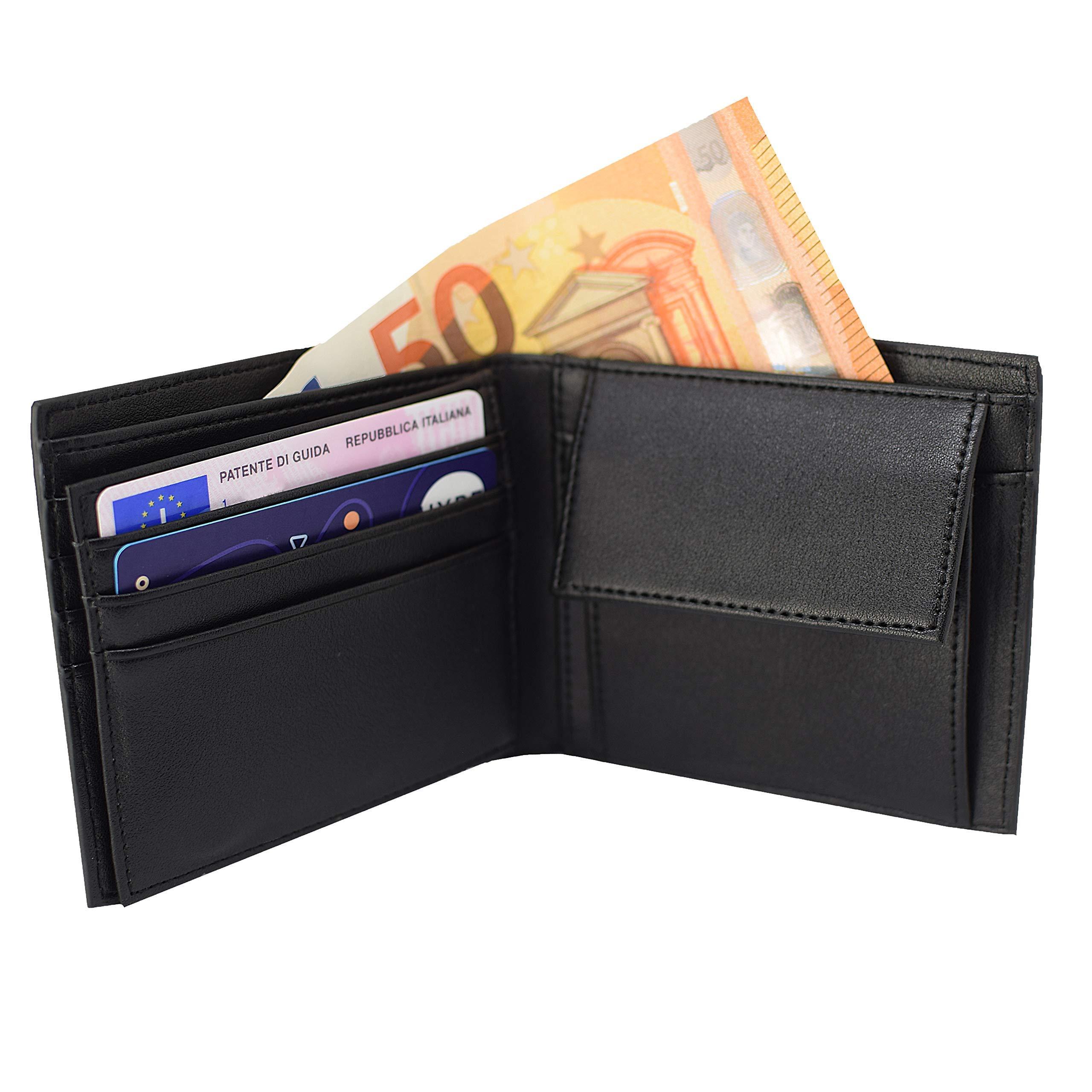 vendita outlet bd08f 50483 Portafoglio Uomo | RFID , HighNews Portafoglio Uomo Piccolo Sottile, Uomo e  Ragazzo , Leggero, Semplice ed Elegante, Per Documenti, Banconote e ...