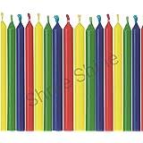 Generic 70 Pcs Plain Multicolored Stick Candles for Diwali, Festival, Decoration, Celebration (Height-10 cm)