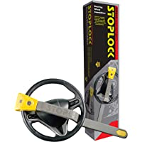 Stoplock HG 134-66 Airbag 4x4 - Steering Wheel Lock for Cars - Secure Anti-Theft Device W/Keys 1 Unit, Yellow/Grey