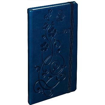 """blau Taschenkalender 2017 Herlitz Buchkalender /""""Lady/"""" Farbe"""