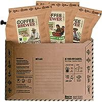 Premium-Kaffee für unterwegs   Coffeebrewer 3er-Pack   Gemahlener, Single Estate, handgeröstet Kaffees aus aller Welt…