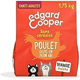 Edgard & Cooper Croquettes Chat Adulte Stérilisé ou Actif sans Cereales Nourriture Naturelle 1.75kg Poulet Frais, Alimentatio