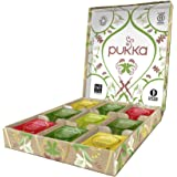 Pukka Active Selection Box, Scatola di Tisane e Tè Biologiche Energizzanti Assortite, Idea Regalo per il Benessere, 45 Bustin