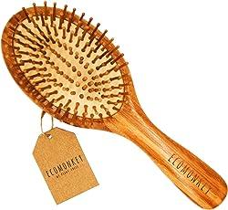 ECOMONKEY® ♻ Die nachhaltige Bambus Haarbürste + 100% vegan + Naturborsten aus Bambus + antistatisch + plastikfrei
