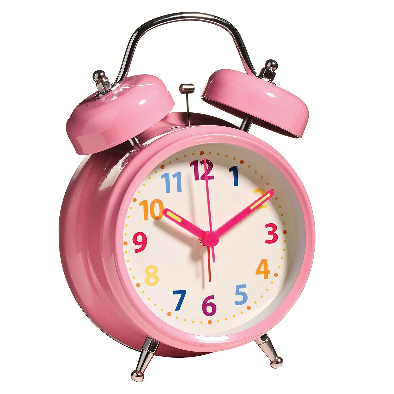 pink alarm clock clipart. premier housewares twin bell alarm clock with light 17 x 12 6 cm pink amazoncouk kitchen u0026 home clipart