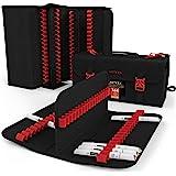 Arteza Mallette organiseur pour stylos (144 porte-feutres élastiques), trousse pour feutre pour le transport et le rangement