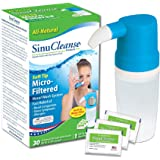 SinuCleanse Micro Filtered Nasal Wash System Sinus Cleanse and Cleaning Saline Irrigation Flush System 30 Count