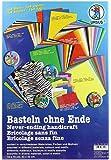 Ursus 7910099 - Basteln, 164 Bastelpapiere, sortiert in verschiedenen Materialien, Farben und Motiven
