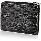 MYCARBON Portafoglio Porta Carte di Credito 13 Scomparti Vera Pelle con RFID Portamonete Uomo Donna(Nero)