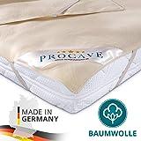PROCAVE Nakładka na materac ze 100% bawełny, naturalny ochraniacz na materac, przepuszczający powietrze, wysokiej jakości nak