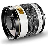 Walimex Pro 800mm 1:8,0 DSLR-Spiegelobjektiv für T2 Objektivbajonett weiß ( für Vollformat Sensor gerechnet, Filterdurchmesse
