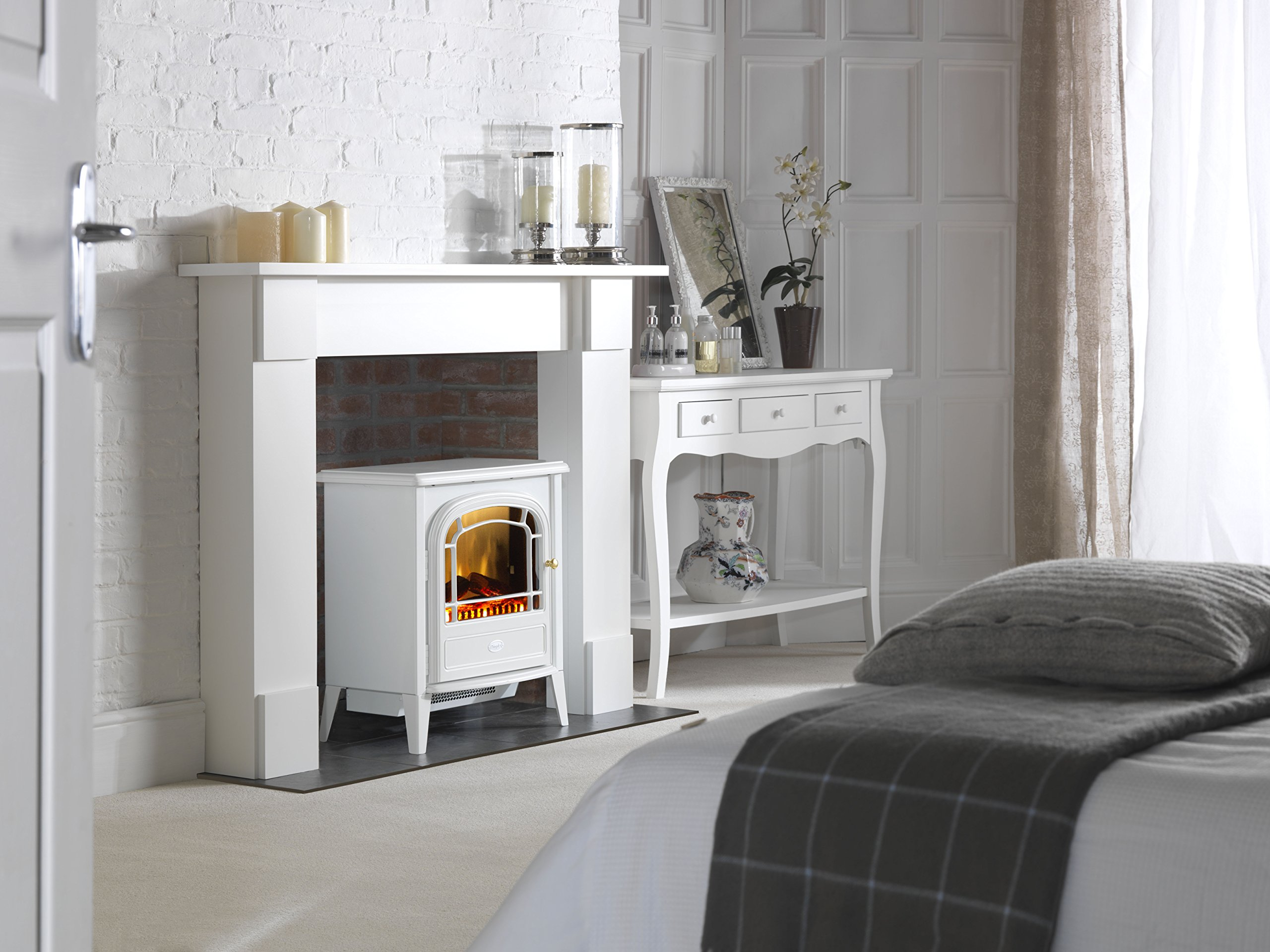 817XFPDHA%2BL - Dimplex CVL20E Courchevel Electric Stove with Optiflame Effect, 2 kW, 230 W, White