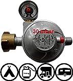 TGO Sicherheits-Druckregler für Fahrzeuge Caravan und Wohnmobile 30 oder 50mbar (mit Aufdruck 2018)