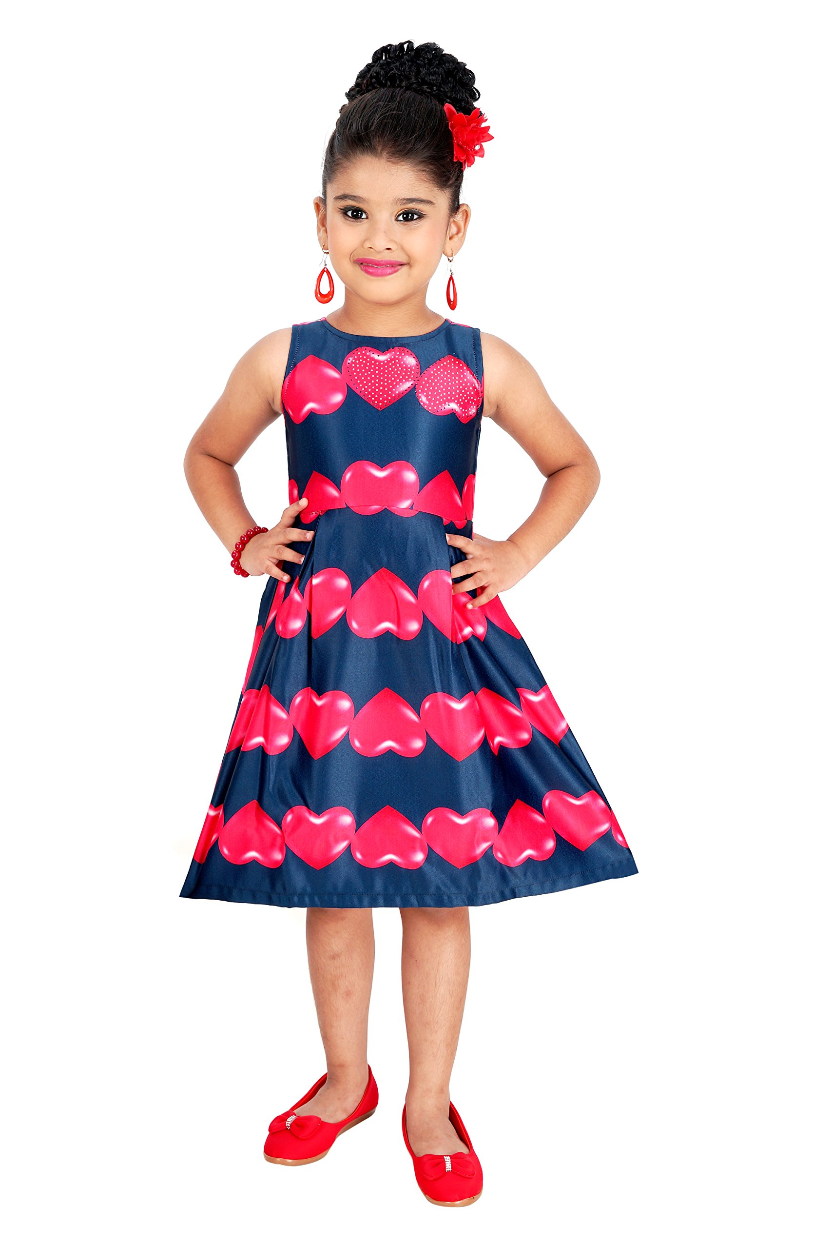 73bfc840a6e5 QUEENROSE Girls Baby Girls Cotton Frock - lali mix india