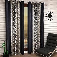 Home Sizzler Dark Grey Curtain