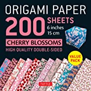 Origami Paper 200 sheets Cherry Blossoms 6 inch (15 cm): Instructions for 8 Projects Included: High-Quality Origami Sheets Pr