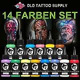 14 Pcs Professionele Tattoo Inkt Set 14 Kleuren 1oz 30 ml/Fles Tattoo Pigment Kit Tattoo & Body Art Make-Up Pigment