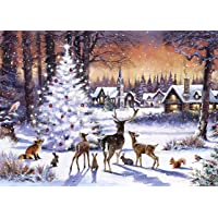 Mini 500 Piece Jigsaw Christmas tree animals Compressed Wood Puzzle Adults And Children DIY Intelligence Game Learning…